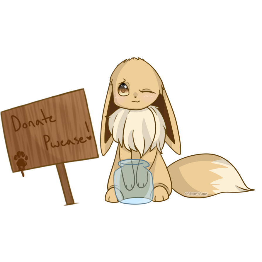Donation Eevee (Old art) by foxlett
