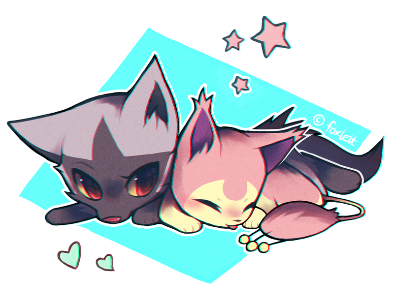 poochyena and skitty by foxlett on deviantart