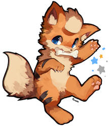Growlithe by foxlett