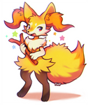 Braixen by foxlett