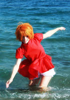Ponyo on the Cliff by the Sea by Kharen94th