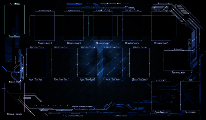 Ygo tech playmat aplha by swifty thevagabond on for Yugioh mat template
