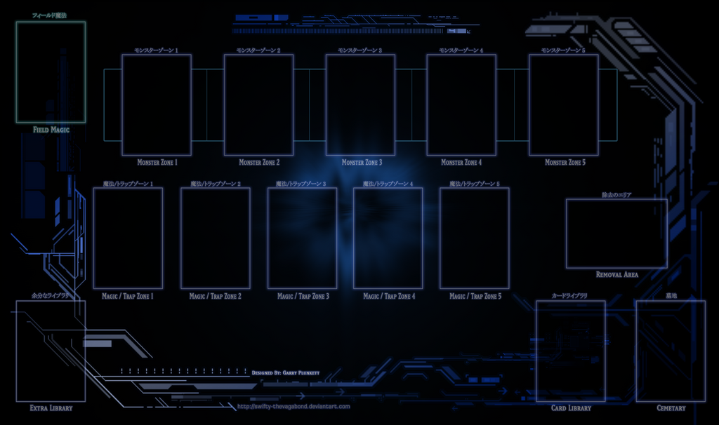Yugioh tech playmat mtg layout by swifty thevagabond for Yugioh mat template