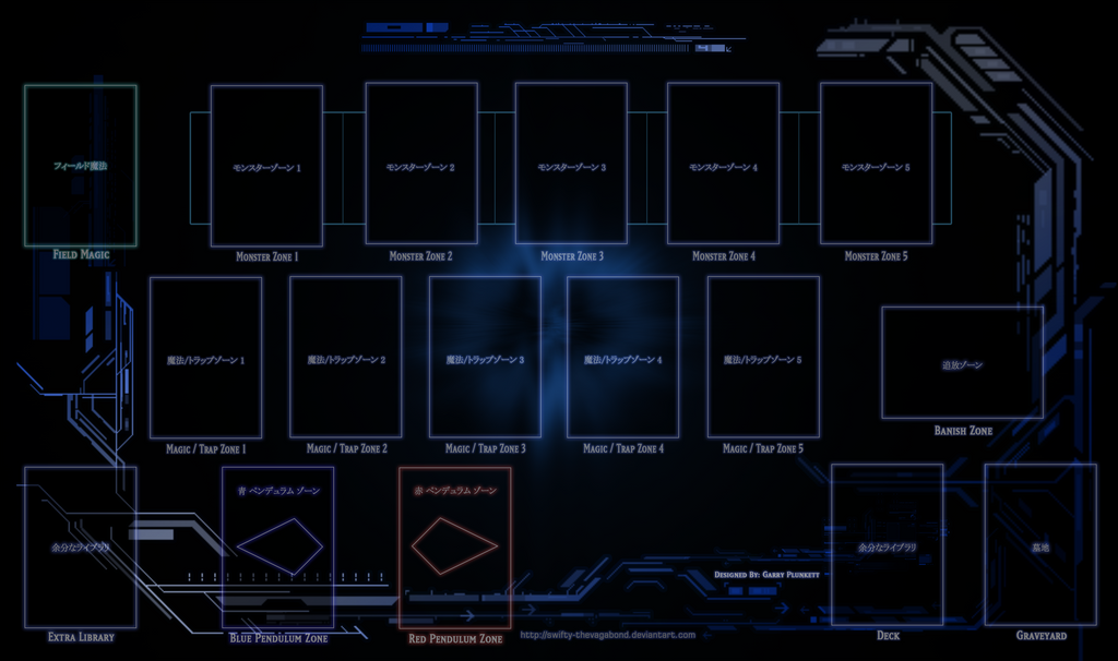 Yugioh tech playmat mtg pendulum by swifty thevagabond for Yugioh mat template