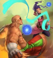 Bonchan vs Louffy by grenias