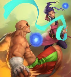 Bonchan vs Louffy