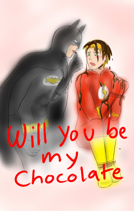 Valentine sketch thing BatFlash by young-rain