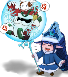 lulu and veigar doing something cute? ss