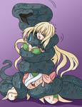 Snake Squeeze Vert From Hyperdimension Neptunia By