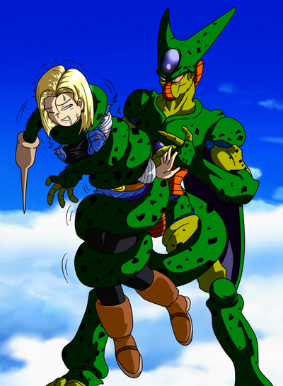 Cell Squeeze Android 18 From Dragon Ball Z By Tail by ...