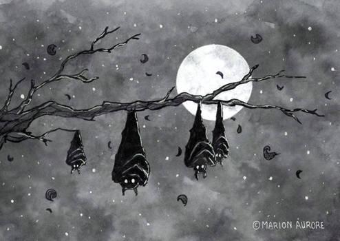 Inktober 20 (2019) - Bats