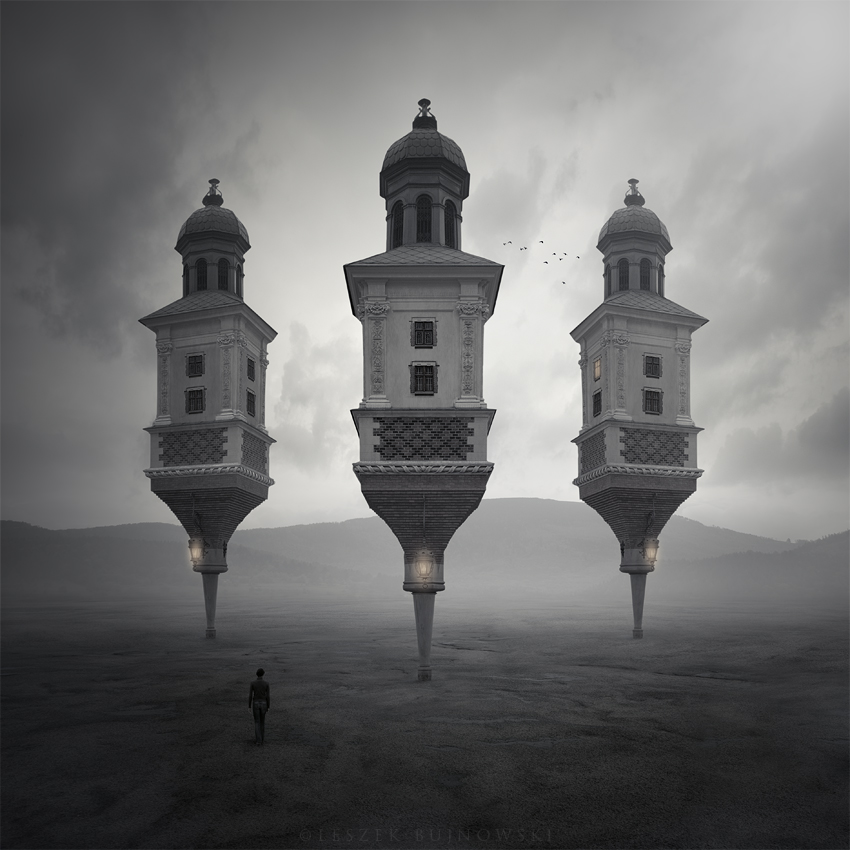 Three towers by Alshain4