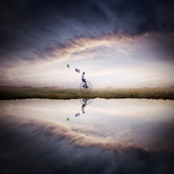 Lost green balloon by Alshain4