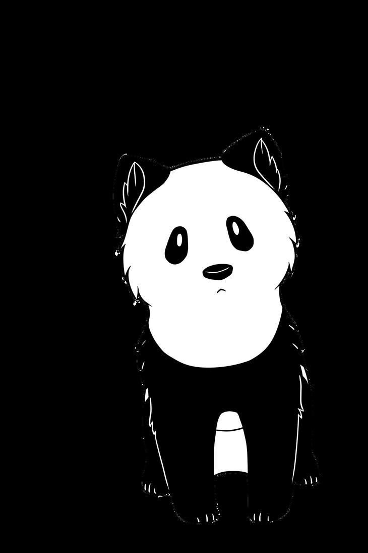 Panda Dog by Lerumei