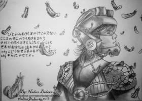 Futuristic warrior after the battle by HadeerBadawey
