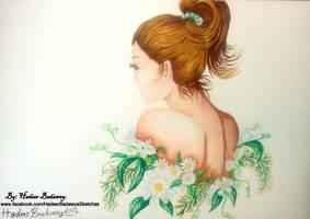 Flowers princess by HadeerBadawey