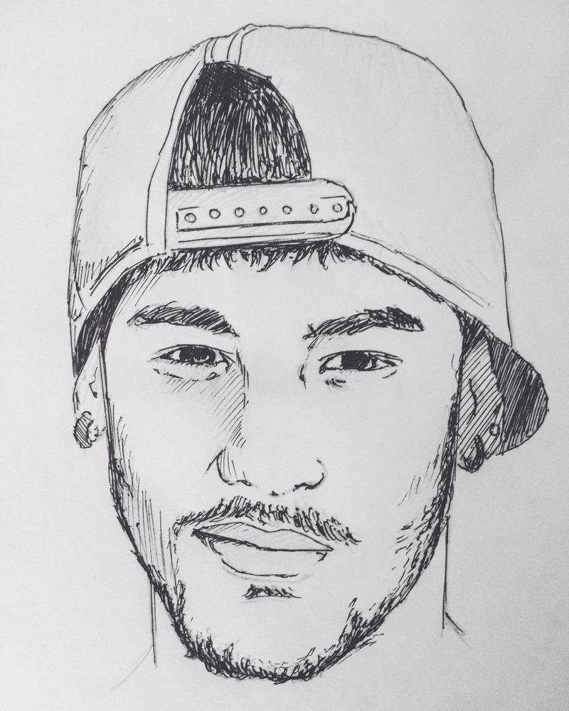 Drawing neymar junior by heatherrooney on deviantart