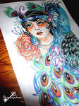 Flapper girl design in colour by RosieColquhoun