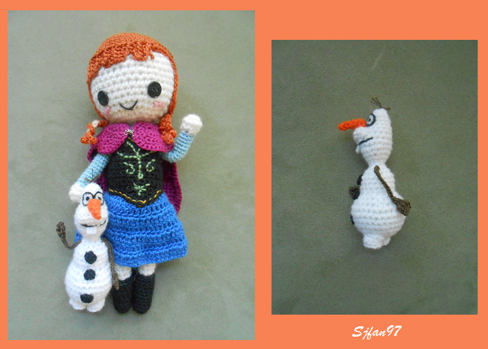 Amigurumi Olaf Tutorial : Olaf crochet pattern by sjfan97 on deviantart
