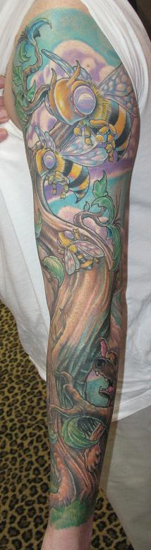 bee sleeve angle 2 - sleeve tattoo