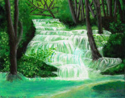 waterfalls by piehay