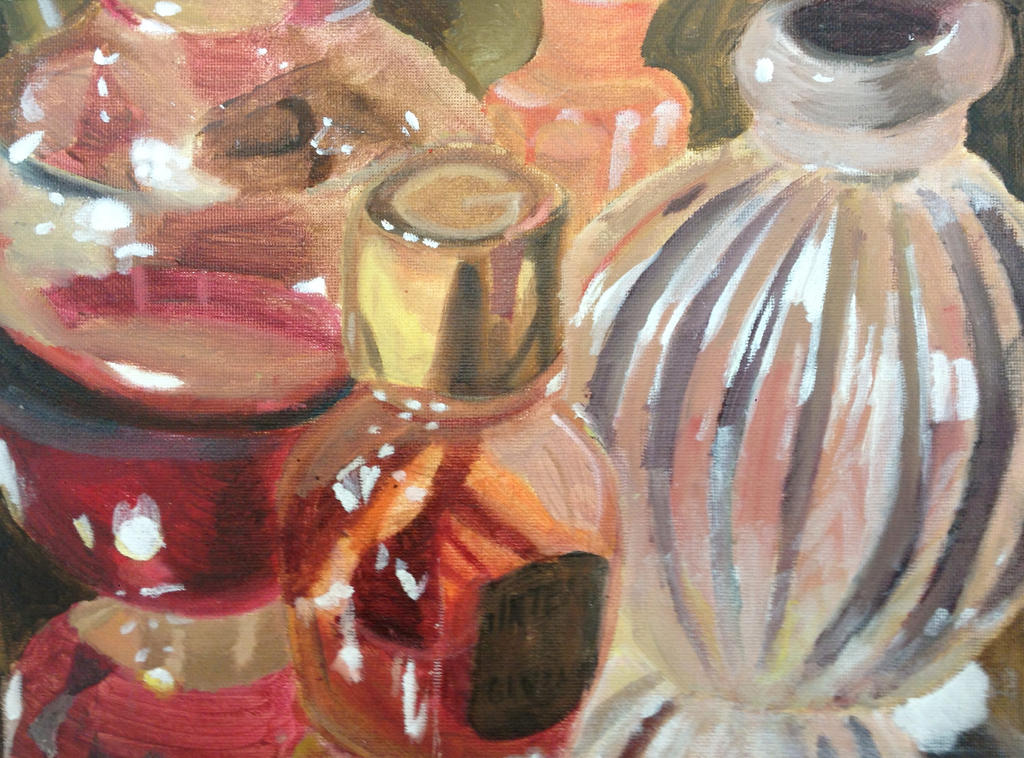 reflective oil still life by onexargetian
