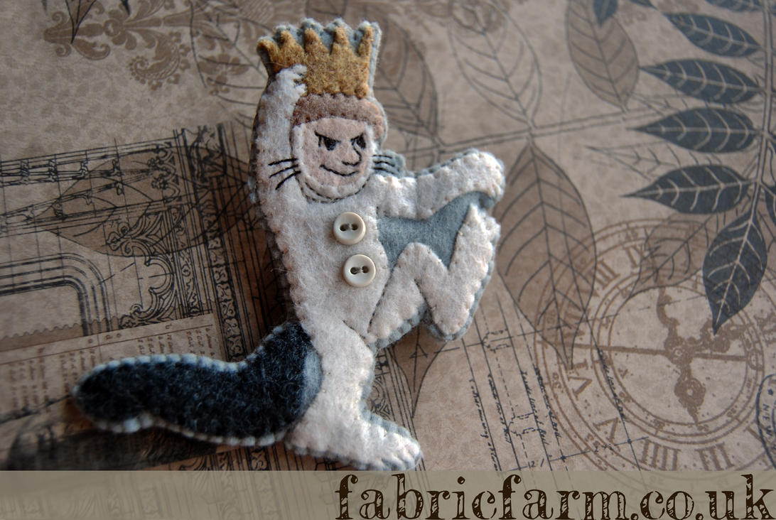 Max from Where the Wild Things Are Brooch by fabricfarm