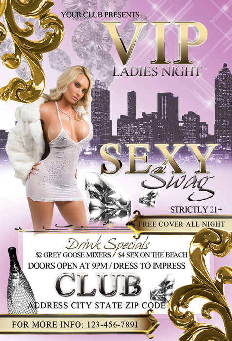Ladies Night Flyer Template By Tinachang89 On Deviantart