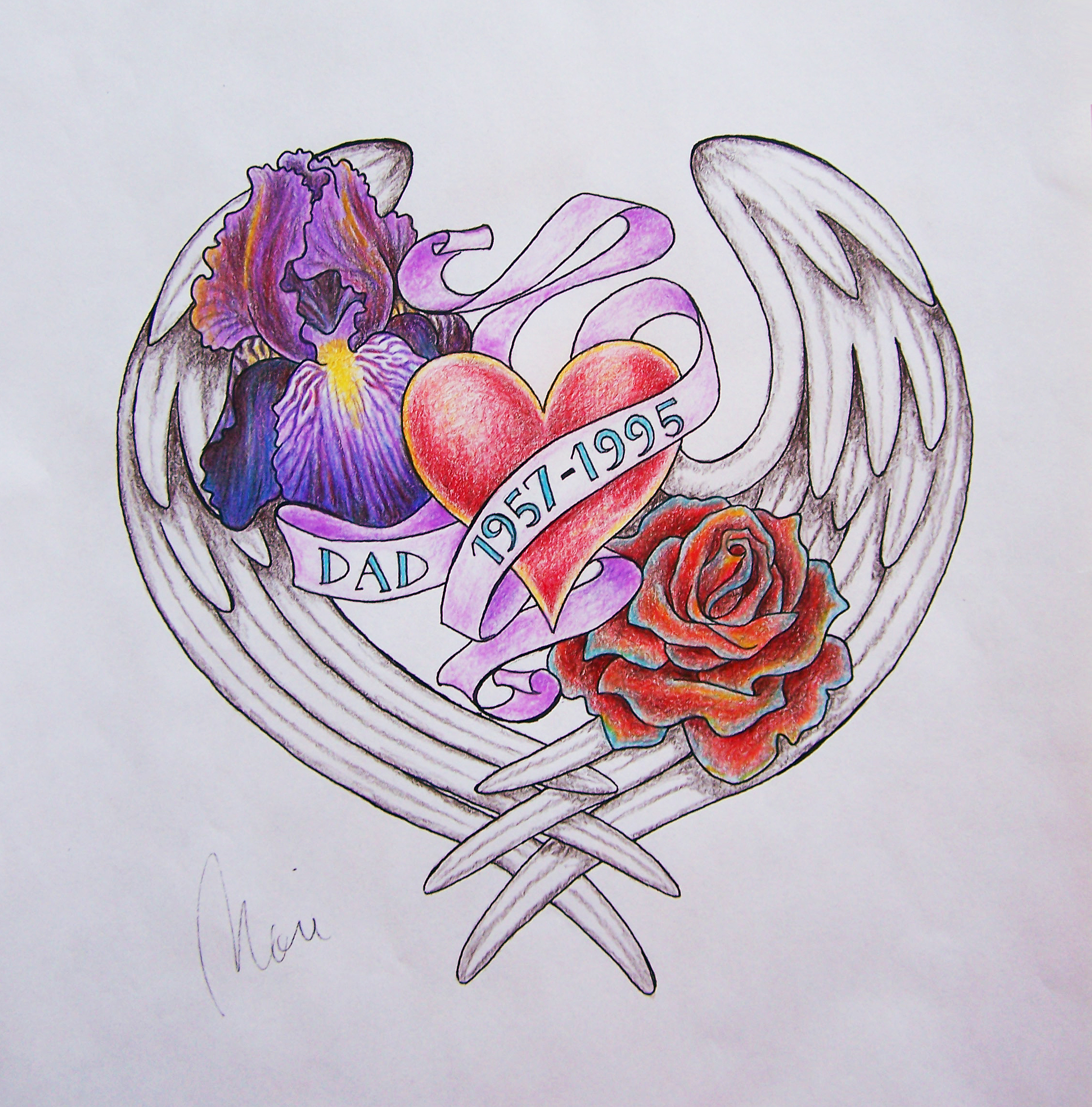 Galleries Related In Memory Tattoo Designs Angel Memorial