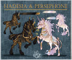 Adoptable Auction  Hadesia and Persephone CLOSED by Buzzbees