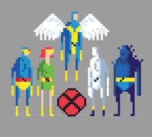 8-Bit X-Men by welovefine
