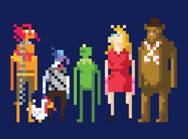 Muppets 8-Bit by welovefine