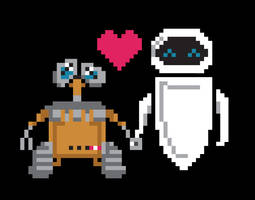 Wall-E Eve Pixels by welovefine