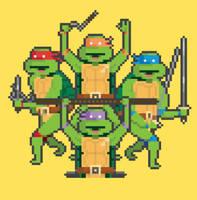 Teenage 8-Bit Ninja Turtles by welovefine
