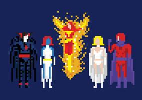 8-Bit X-Men Villains by welovefine