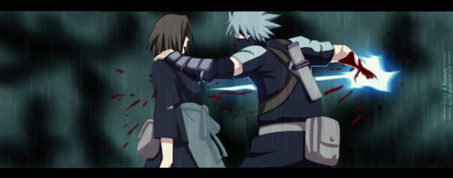 Kakashi and Rin by kisi86