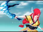 Erza Scarlet Fairy Tail 458 Wind Armor