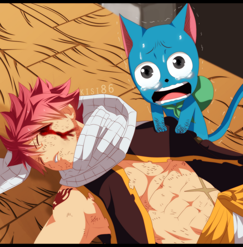 natsu and happy ft 468 by kisi86 on deviantart