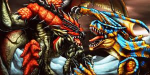 Tigrex VS Rathalos