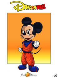 Mickey as Goku by Djleemon