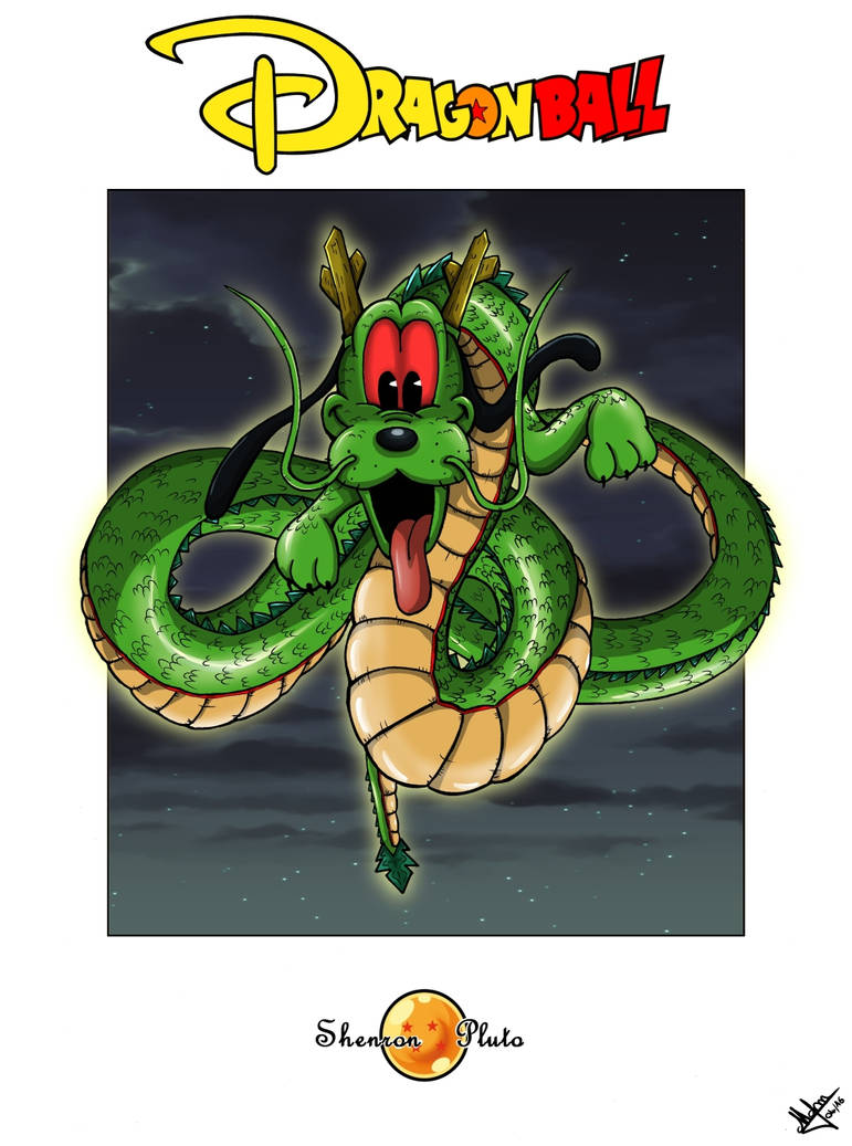 Pluto as Shenron by Djleemon