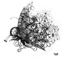 butterfly on light drugs by Khmelic