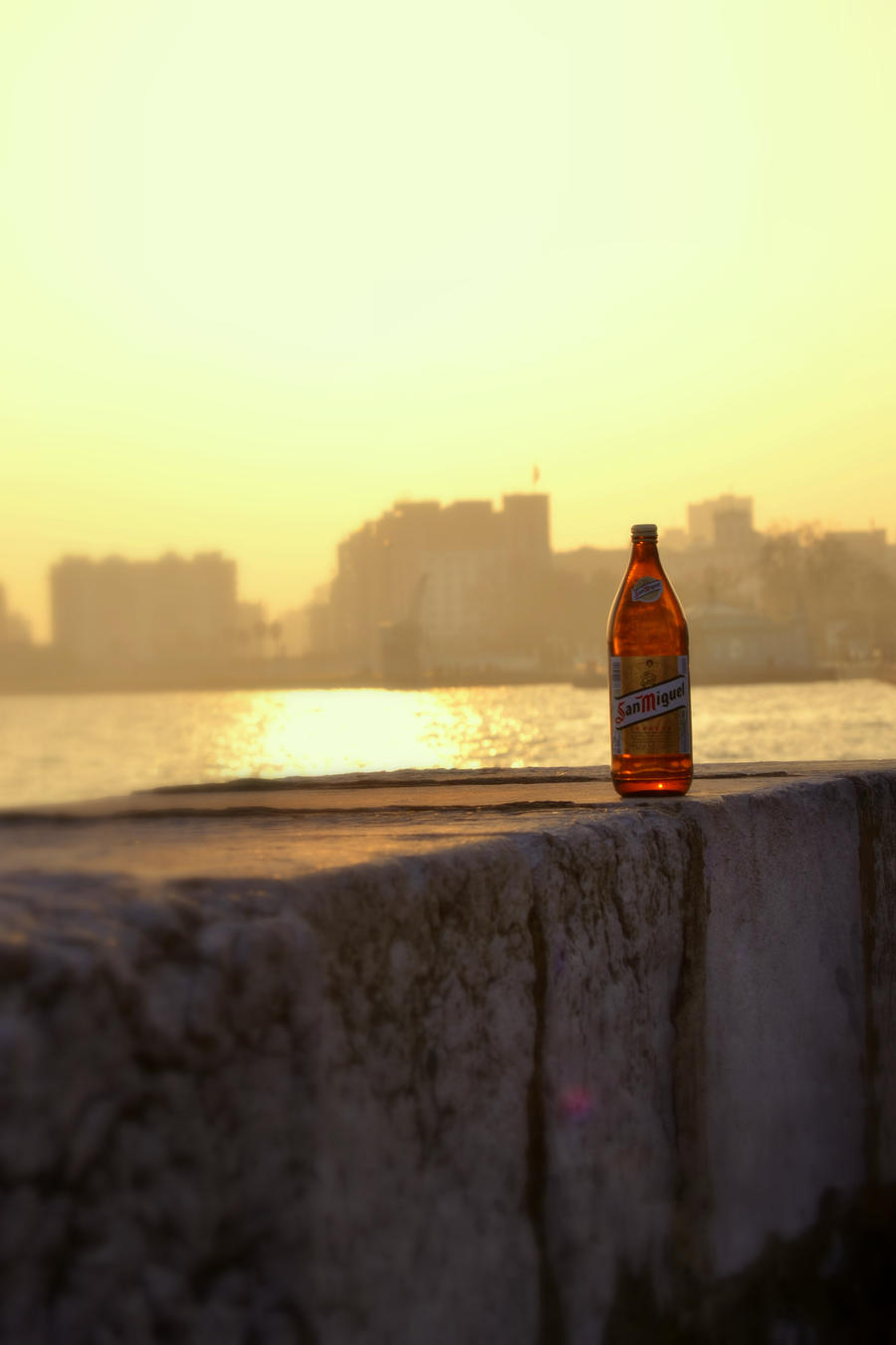 beer at the sunset by gardeenofdreams