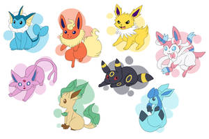 Eeveelutions by Quarbie