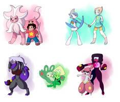 Pokemon x Steven universe- We are pokemon trainers by Quarbie