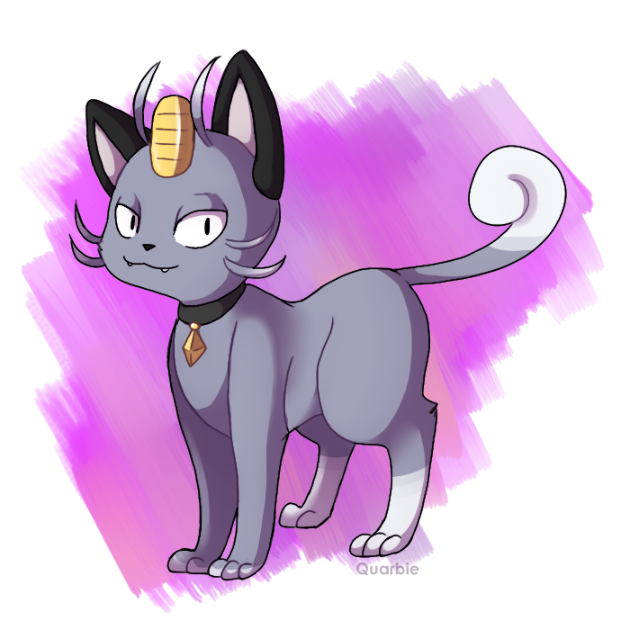 Alola Meowth By Quarbie On DeviantArt