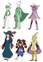PKMN- Quarbie's team Gijinka by Quarbie