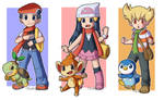 PKMN- DP protagonists and rival