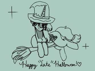 |Late Halloween Special| flying with a broom!