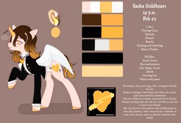sasha goldheart reference sheet